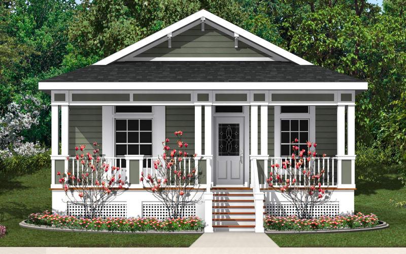 Longview Exterior Elevation with optional site-built porch