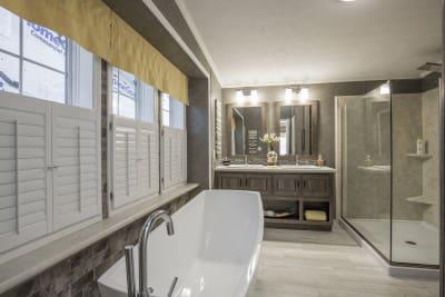 The Newton 702B master bathroom