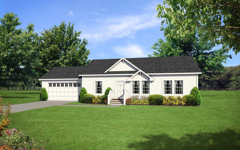 Barclay 4201 Optional Elevation with Site-built garage