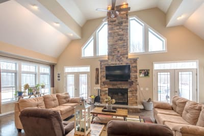 The Lakeport family room