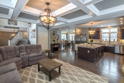 The Lakeport living room