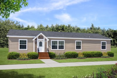 Double wide, multi-section manufactured home