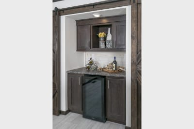 CDC 2860 butlers pantry with barn doors