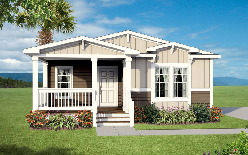 HOMC 4563B exterior with accents