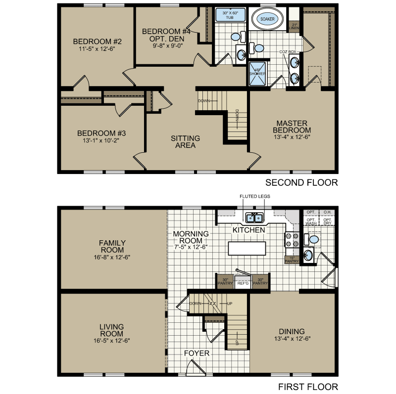 4 Bedroom Manufactured Homes: Titan 618 - Titan Homes