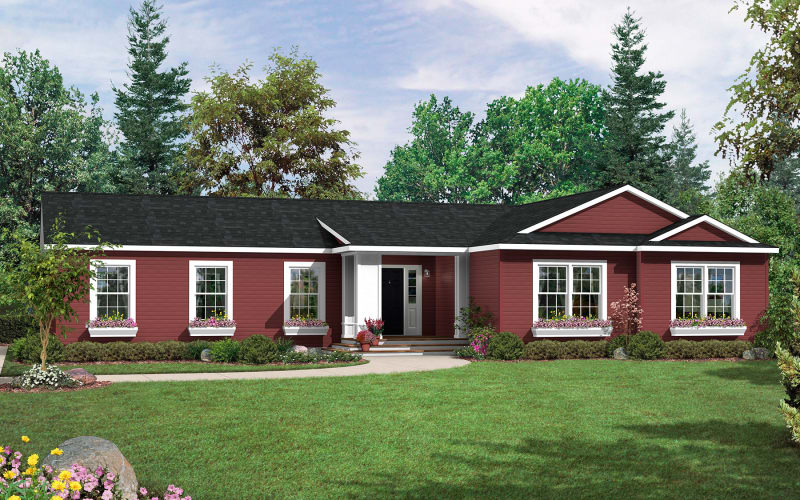 Titan Model 813 Modular Ranch Elevation