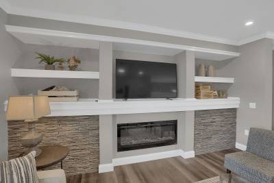 Entertainment Center and Fireplace