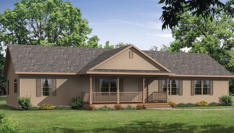 The Beckley Modular Ranch Elevation