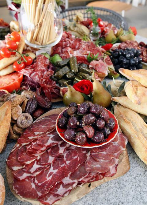 deli meats and cheese platter - new farm deli