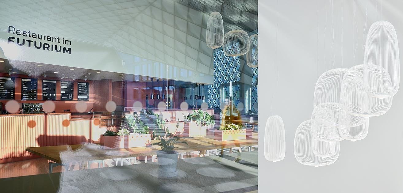 First slide, photo of Restaurant im Futurium