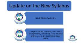 NEW SYLLABUS W.E.F APRIL 2021