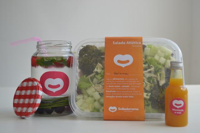 """A salada """"Atlética"""" é uma das opções do cardápio do Saladorama."""