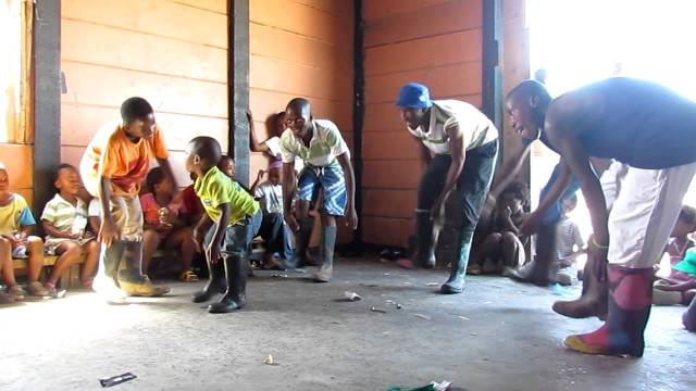 Dancing class at our garage space in Langa