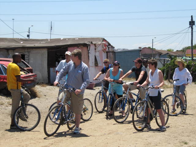 Township experience on bikes helps to finance 20% of Happy Feet Youth Project.