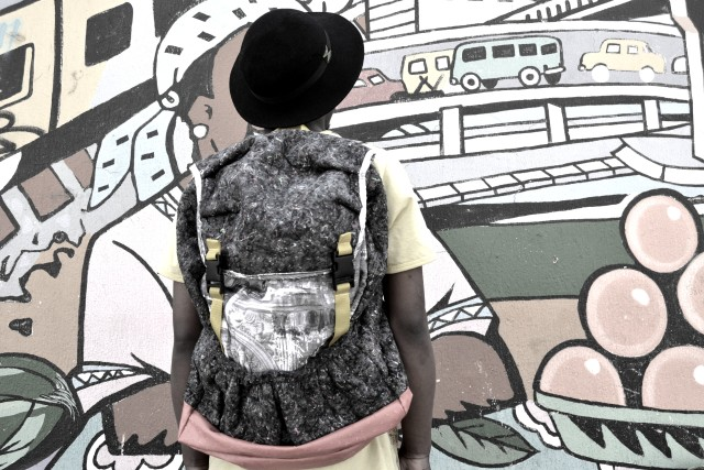 SOULART BAG MADE OUT OF DISCARDED MATERIALS
