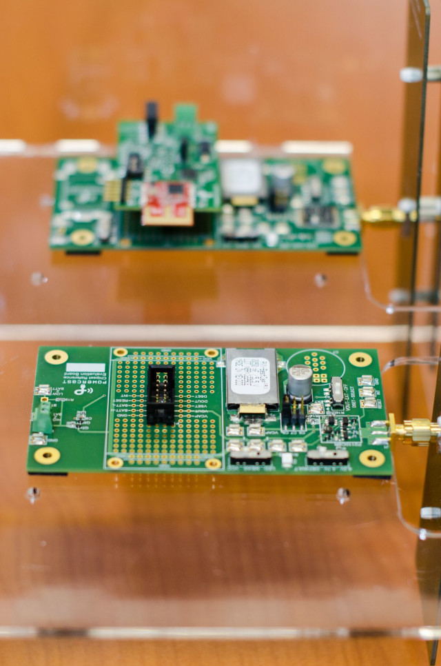 The AEON Technology  proof of concept was developed and fabricated by Tshwane University of Technology Electronics sector