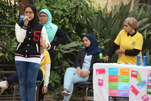 The women of HarassMap in action