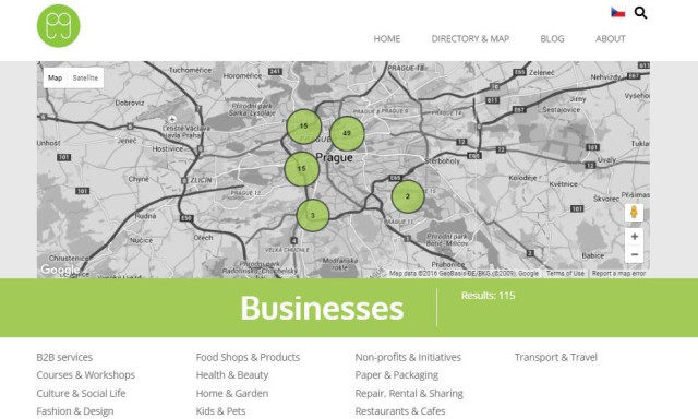 The Greenglasses directory maps sustainable businesses in every category of life