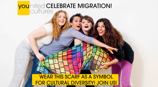 Creating a symbol for migration is necessary to make visible the potential and beauty of cultural diversity. Migration should also have a symbol. Why not? Let's make it visible. Let's celebrate!