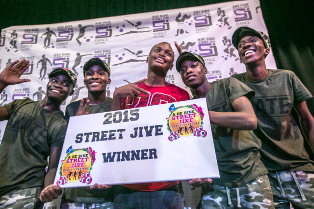 2015 Individual Winner Gecko from Gaborone (P5,000.00) and Group Winners- Psycho Kingz (P15,000.00) from Kanye. With his winnings, Gecko (B-Boy) managed to fund his trip to SA to participate at  Red Bull BC One in Jozi.