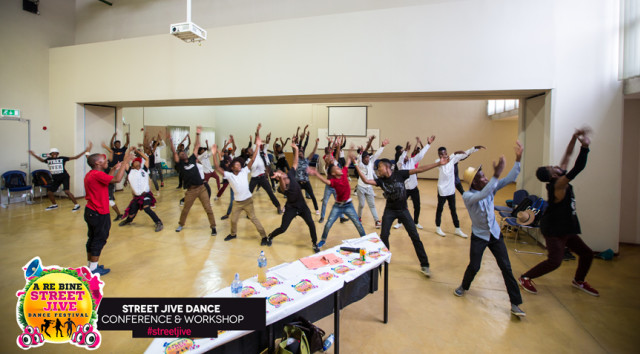 Professional Choreographers teaching various dance genres like hip hop and contemporary at the Street Jive Workshop