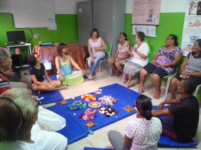 Unidade de Saúde da Família - Vivência de Mandala com Idosos FGM 2016