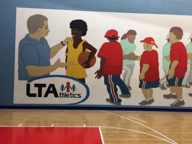 NEXT PROJECT!!!---Leadership Through Athletics (Halethorpe)-- I'd like to redo the existing mural but I need funding!!!!