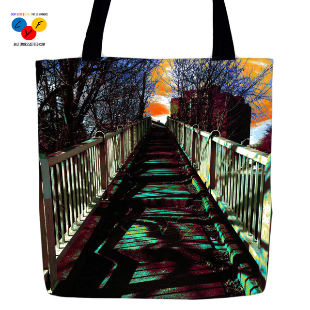 """Off and Out"" tote bag by Renee Anderson"