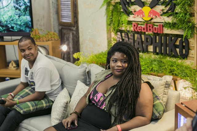 Os Fellows Amaphiko Hamilton Henrique e a rainha do dancehall Lei di Dai