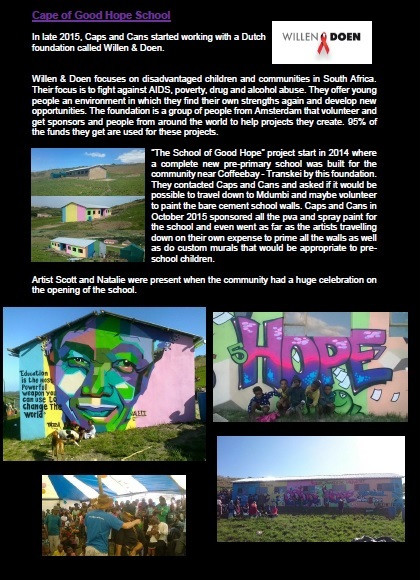 We transformed the walls of the new School of Good Hope in Coffee Bay, Transkei.