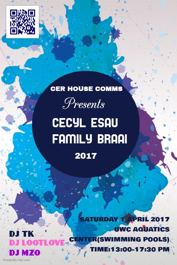20170401 Cecil Esau Family Braai