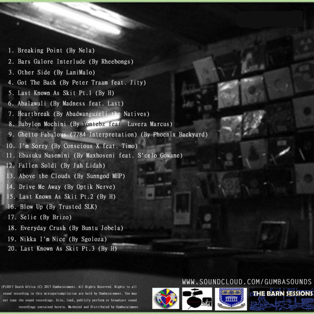 UWC Barn Sessions Vol. 1 Mixtape Tracklist