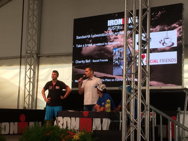 2016 & 2015: Presenting SOCIAL FRIENDS initiative at the Ironman Austria race briefing with an audience of 3.000 international triathletes.