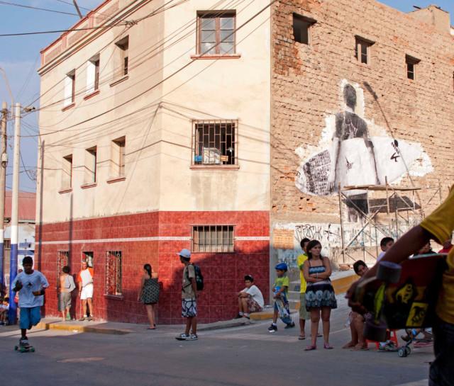 "Muralization made by ""Sueño"" in the neighborhood"