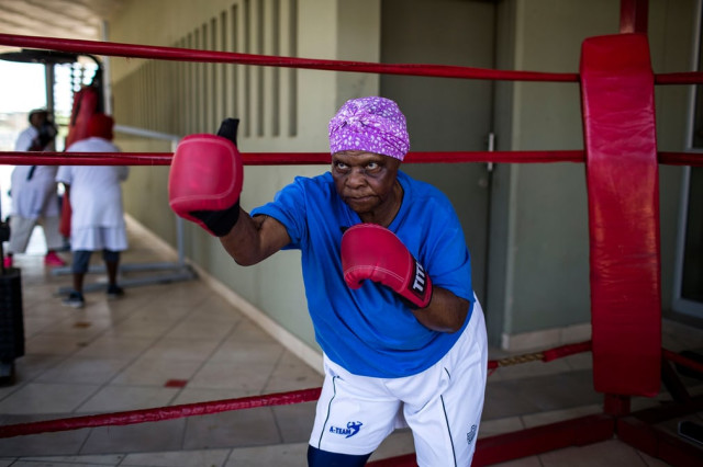 South African boxing grannies