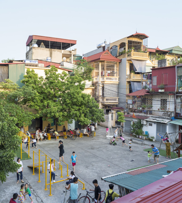 One of Think's playgrounds in Nhan Chinh, Hanoi