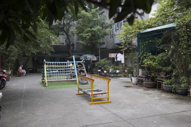 A quiet moment in the Chuong Duong playground, Hanoi