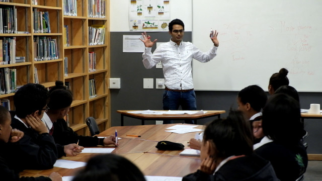 Shivad Singh of Presto Academy surveys students before and after workshops to help shape his course's focus.