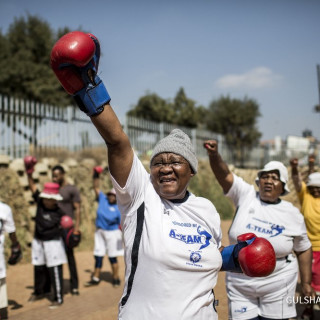 Claude Ateam Coach South African Boxing Grannies