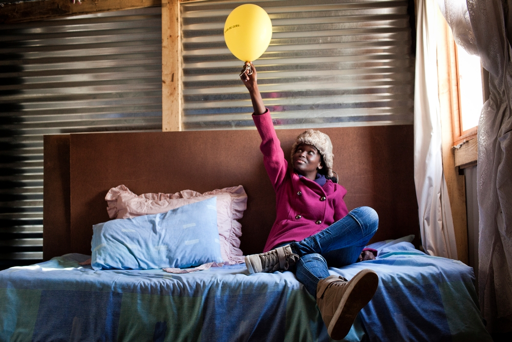 Phumeza Tisile at home in Khayelitsha two years ago on the day she celebrated her cure from XDR-TB.