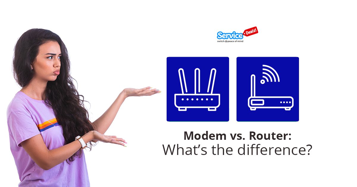 Modem vs. Router: What's the difference?- ServiceDealz