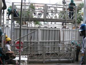 Double decked work platforms