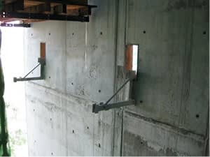 Wall Clamp Bracket Anchorage System