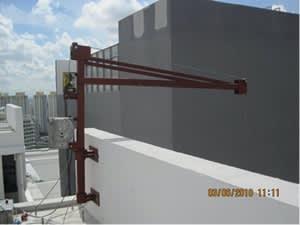 Wall-Mounted Davit Arm Hoist System