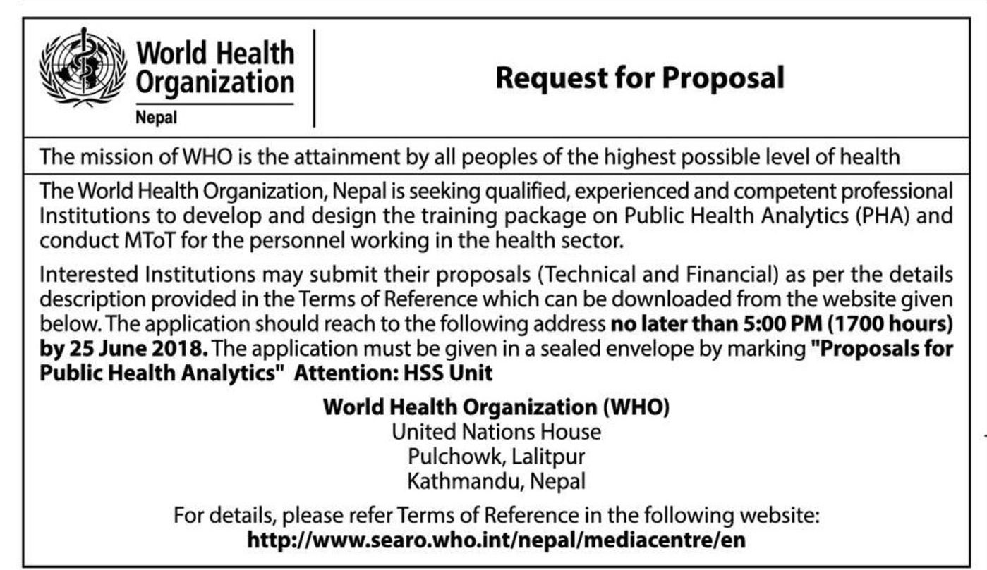 Bids and Tenders Nepal - RFP - Develop and Design the