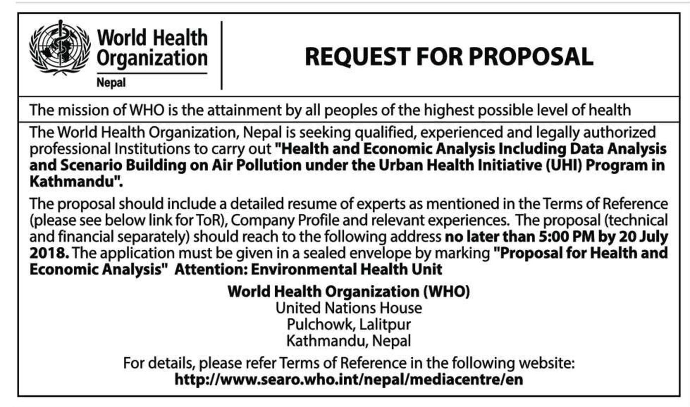 bids and tenders nepal rfp proposal for health and economic