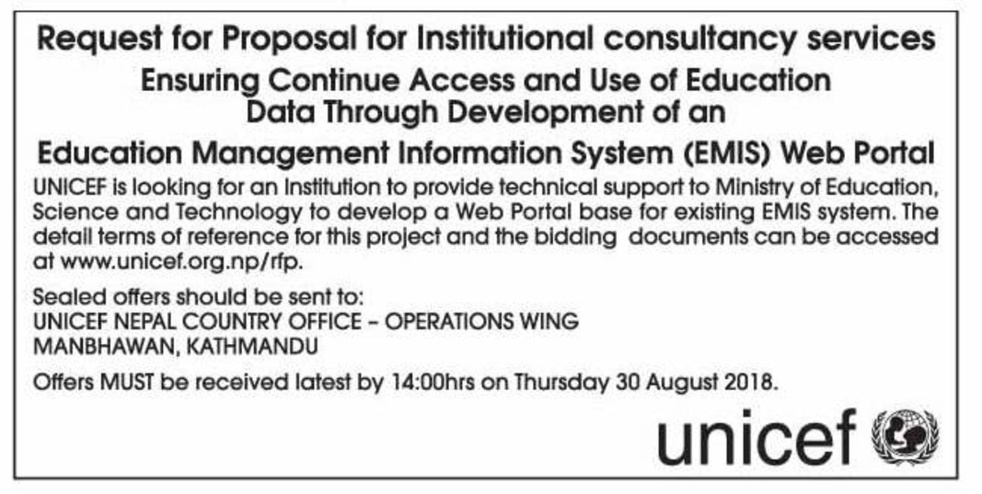 Bids and Tenders Nepal - RFP - Continue Access and Use of Education