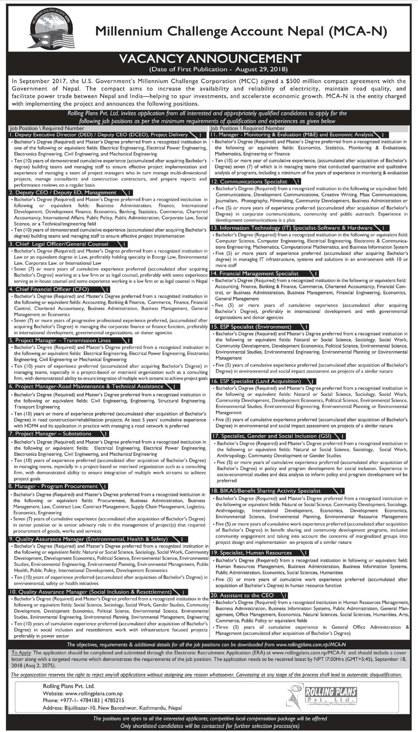 job vacancy in ingo nepal