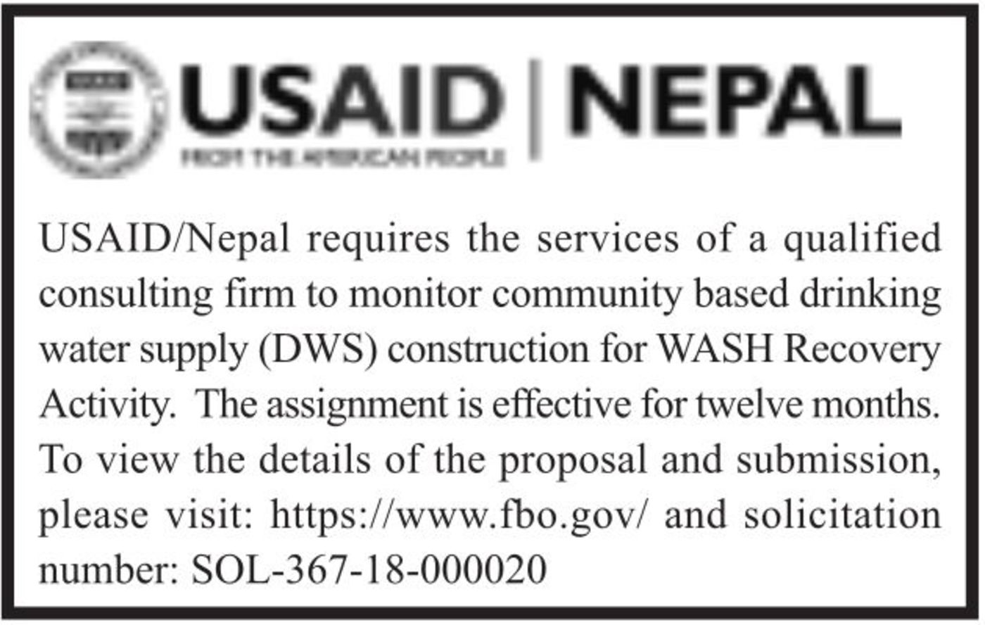 Bids and Tenders Nepal - USAID RFP - Services of a Qualified