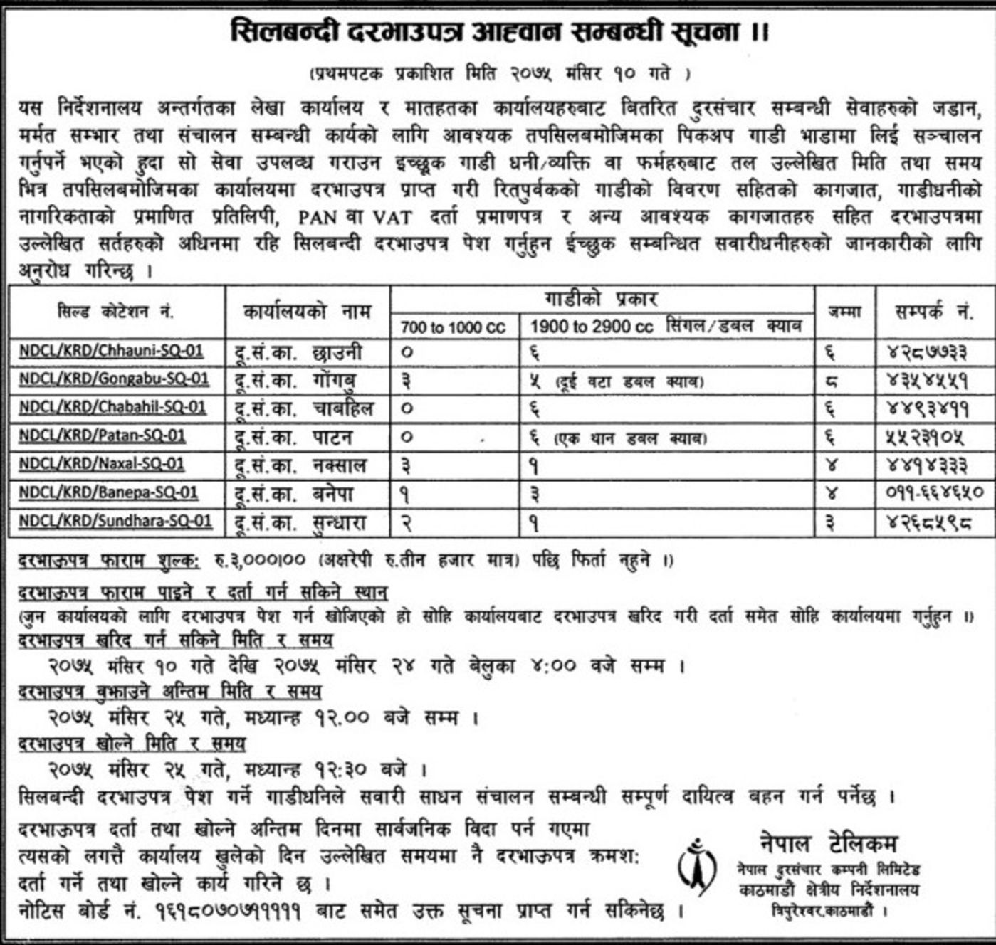Bids and Tenders Nepal - Tender -Construction and Maintenance of